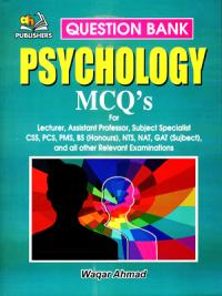 Psychology MCQs By Waqar Ahmed
