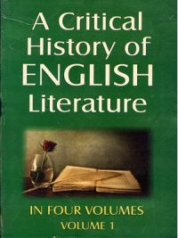 A Critical History of English Literature Volume I to IV By David Daiches