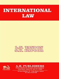 International Law By S.K Kapoor and L.N Tandon AH Publisher