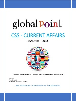 Monthly Global Point Current Affairs January 2018