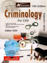 Subjective MCQS Criminology By Nasir Khan & Ammar Sattar Advanced Publishers