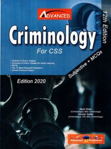 Subjective MCQS Criminology By Nasir Khan & Ammar Sattar Advanced Publishers