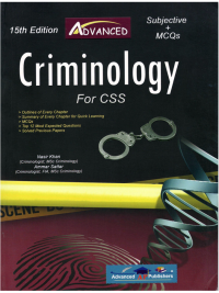Buy Subjective MCQS Criminology By Nasir Khan Advanced Publishers Book online as Cash on Delivery all Over Pakistan. This is the latest and updated