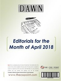 Monthly DAWN Editorials April 2018