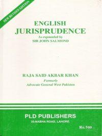 English Jurisprudence By Raja Said Akbar Khan PLD Publishers