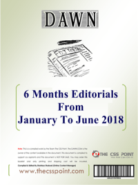 6 Months Dawn Editorial From January To June 2018