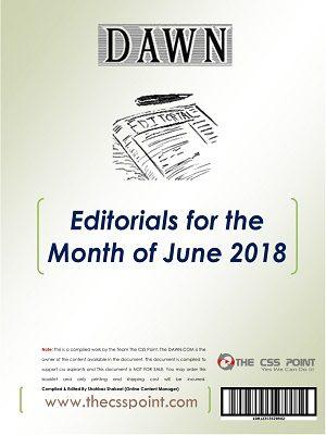 Monthly DAWN Editorials June 2018