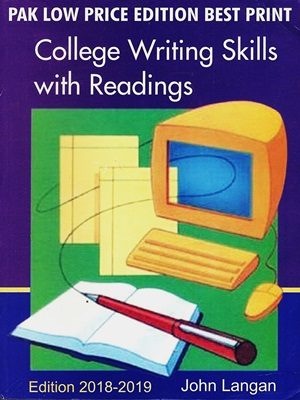 College writing skills With Readings By John Langan Edition 2018 - 2019