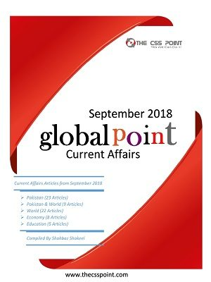Monthly Global Point Current Affairs September 2018