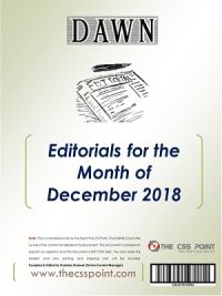 Monthly DAWN Editorials December 2018