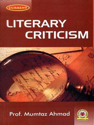 Literary Criticism By Mumtaz Ahmad