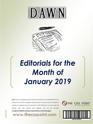 Monthly DAWN Editorials January 2019