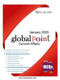 Monthly Global Point Current Affairs January 2019 with MCQs
