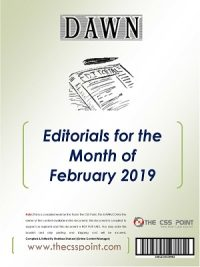 Monthly DAWN Editorials February 2019
