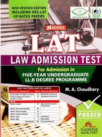 LAT law Admission Test By M. A Chandhary N Series 2021 Edition