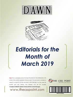 Monthly DAWN Editorials March 2019