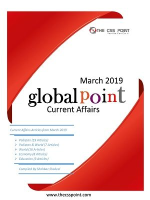 Monthly Global Point Current Affairs March 2019