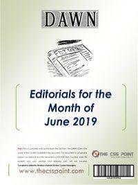 Monthly DAWN Editorials June 2019