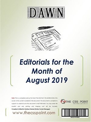 Monthly DAWN Editorials August 2019