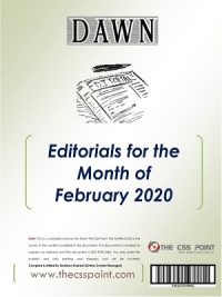 Monthly DAWN Editorials February 2020