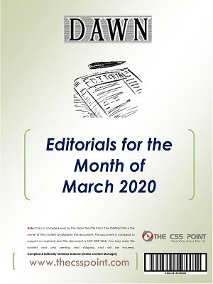Monthly DAWN Editorials March 2020