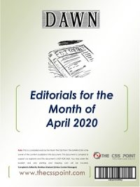 Monthly DAWN Editorials April 2020
