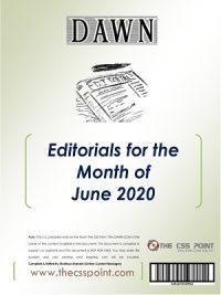 Monthly DAWN Editorials June 2020