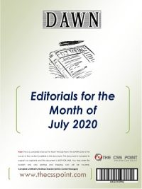 Monthly DAWN Editorials July 2020