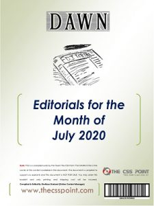 Monthly DAWN Editorials July 2020