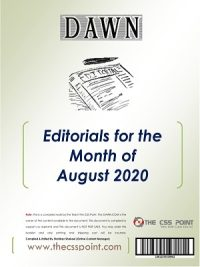 Monthly DAWN Editorials August 2020