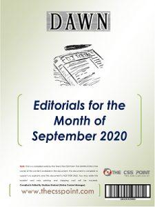 Monthly DAWN Editorials September 2020