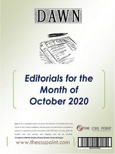 Monthly DAWN Editorials October 2020