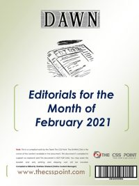 Monthly DAWN Editorials February 2021