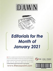 Monthly DAWN Editorials January 2021