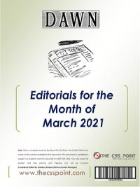 Monthly DAWN Editorials March 2021