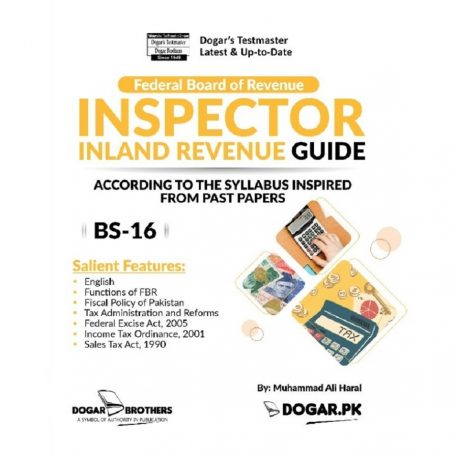 FBR Inspector Inland Revenue (BS-16) Guide Dogar Brothers