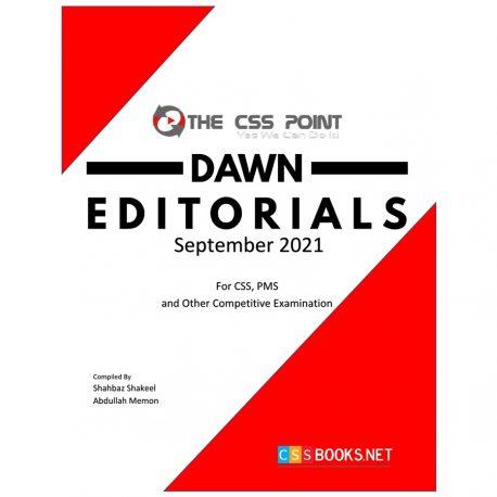 Monthly DAWN Editorials September 2021